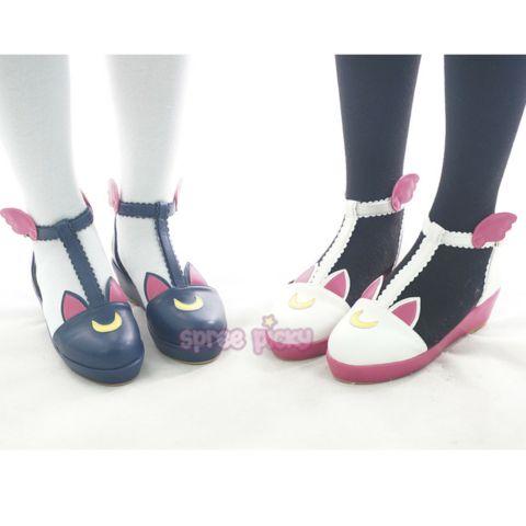 Navy/White Sailor Moon Luna/Artemis Kawaii Shoes SP165332