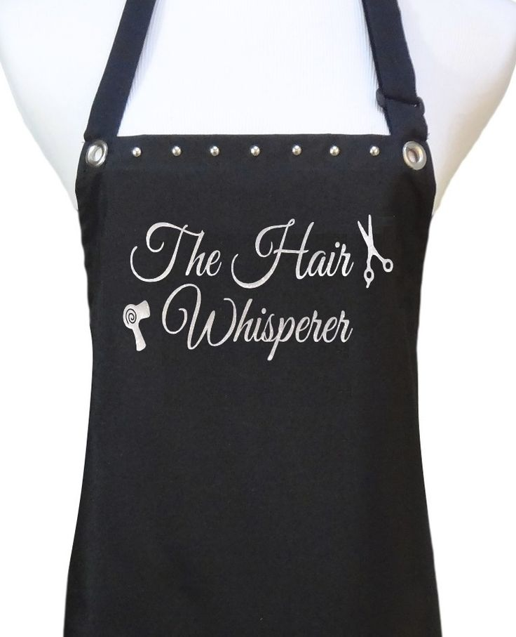 "Hair stylist salon apron ""The hair Whisperer"" from TrendySalonAprons.com"
