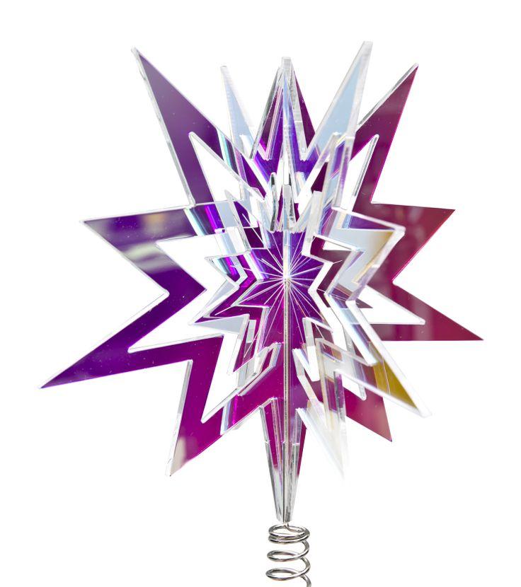LUMI topstar from Rølga  Material: radient plexiglas Buy it on: http://rolga.tictail.com