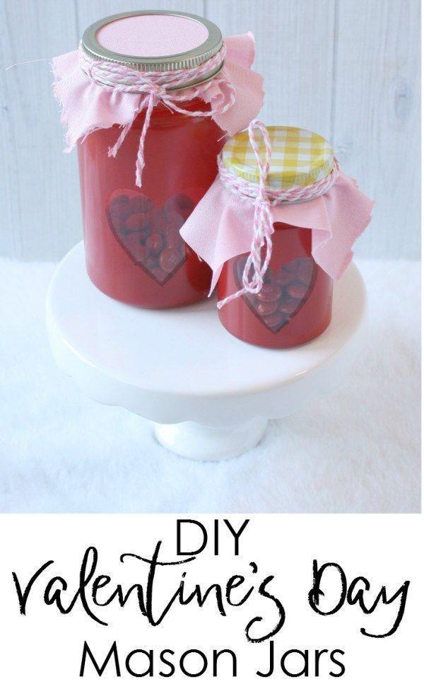 DIY Valentine's Day Mason Jars