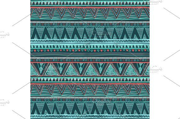 . Vector Ethnic seamless pattern by Rommeo79 on @creativemarket