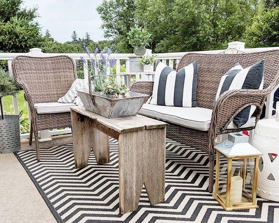 Sunbrella Custom Patio Cushion Cover Outdoor Patio Seat Etsy Patio Cushions Patio Cushion Covers Patio Seating