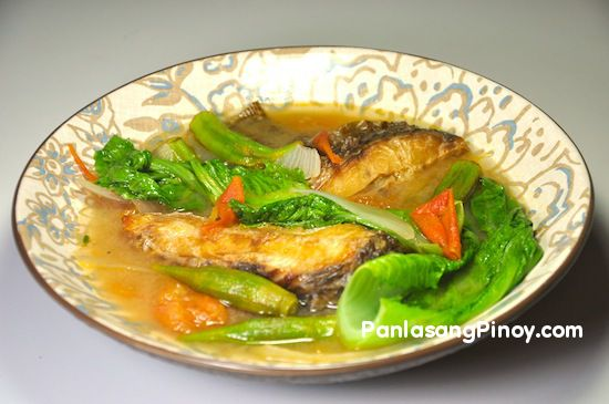 Sinigang na tilapia sa miso recipe tilapia fish soup for Filipino fish recipes
