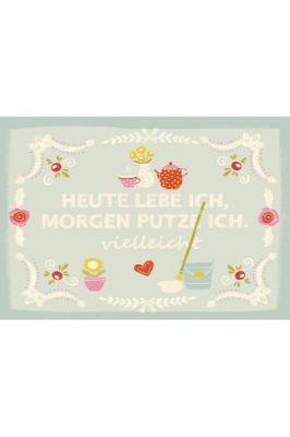 Postkarte Putzen DIN A6 Wendekreis