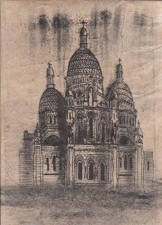 Philippa Randles Illustration: Monoprint Buildings from 'PRINTS & DRAWINGS'