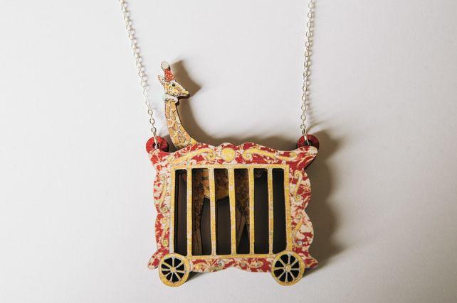 Circus Giraffe Wooden Necklace £19.95