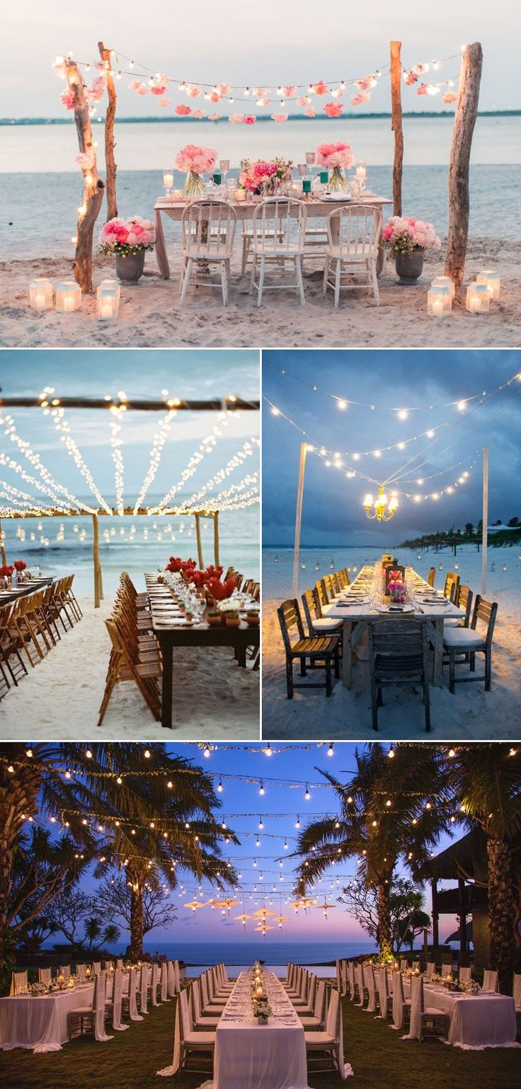32 Decoration Ideas to Create a Magical Fairy Tale Reception! Boho Beach