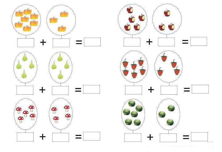 Resultado de imagen de sumas faciles para niños 5 años
