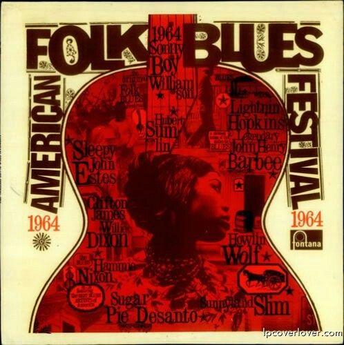 American Folk Blues Festival 1964 Fontana Records (UK) enregistrés dans le Musikhalle à Hambourg cette année , y compris Sonny Boy Williamson, Sugar Pie Desanto, Howlin Wolf et autres. Courtesy of Chess Records.