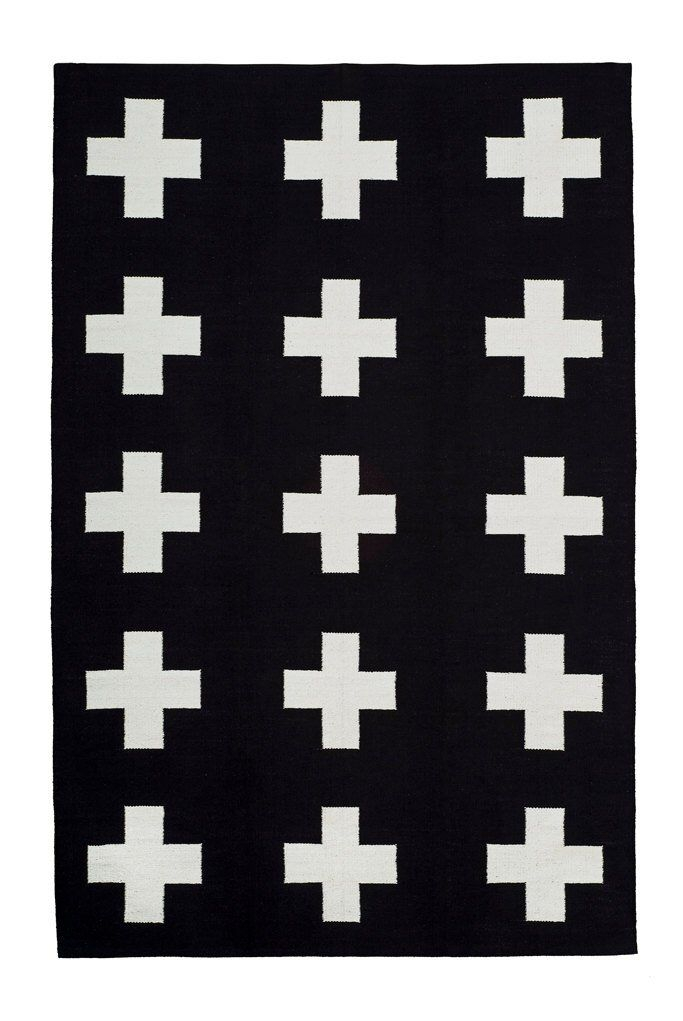 Union Rug Cotton Flatweave Black And White Etsy Flat Weave Rugs