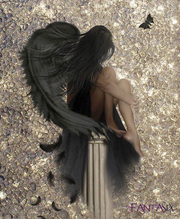 Картинки девушка с крыльями со спины