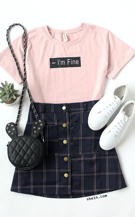 Letter Print Pink T-Shirt