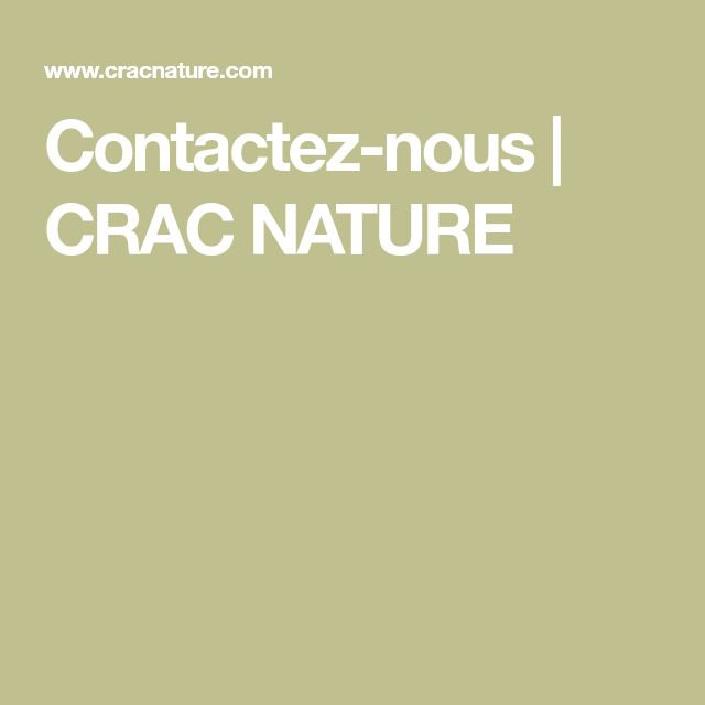 Contactez-nous   CRAC NATURE