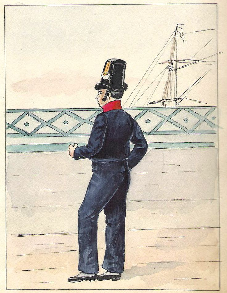 Marine Royale Ouvrier Charpentier ou Calfatage (1816-1825 )