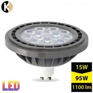 Żarówka LED GU10 ES111, 230V, 15W, biala zimna