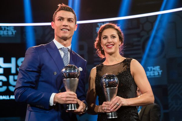 Cristiano Ronaldo Photos Photos - The Best FIFA Men's Player Award winner Cristiano Ronaldo of Portugal and Real Madrid and The Best FIFA Women's Player Award winner Carli Lloyd of the United States and Houston Dash pose for a photo during The Best FIFA Football Awards 2016 on January 9, 2017 in Zurich, Switzerland. - The Best FIFA Football Awards