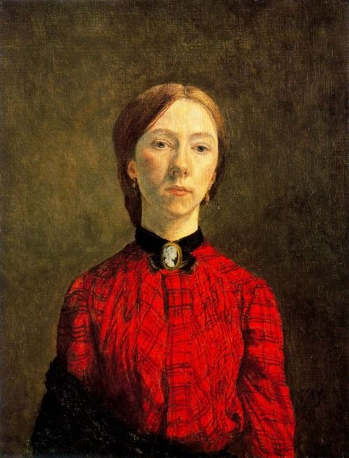 Gwen John - Self-Portrait - I feel I know her, just from seeing this one image. It's wonderful.