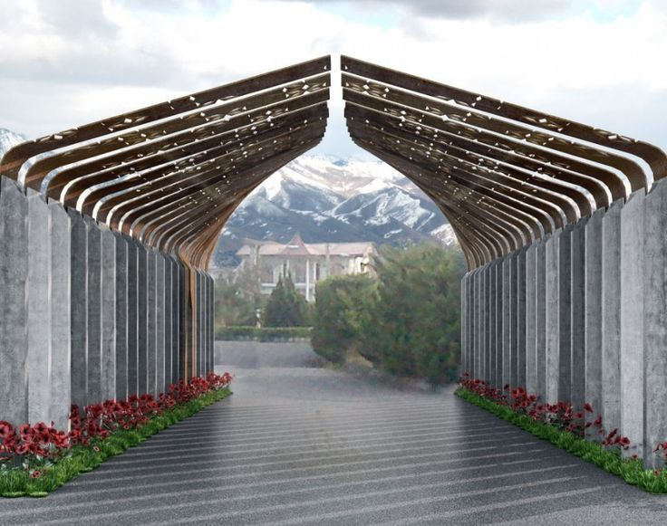 Gallery of ryhan villa complex gate winning proposal for Home gateway architecture