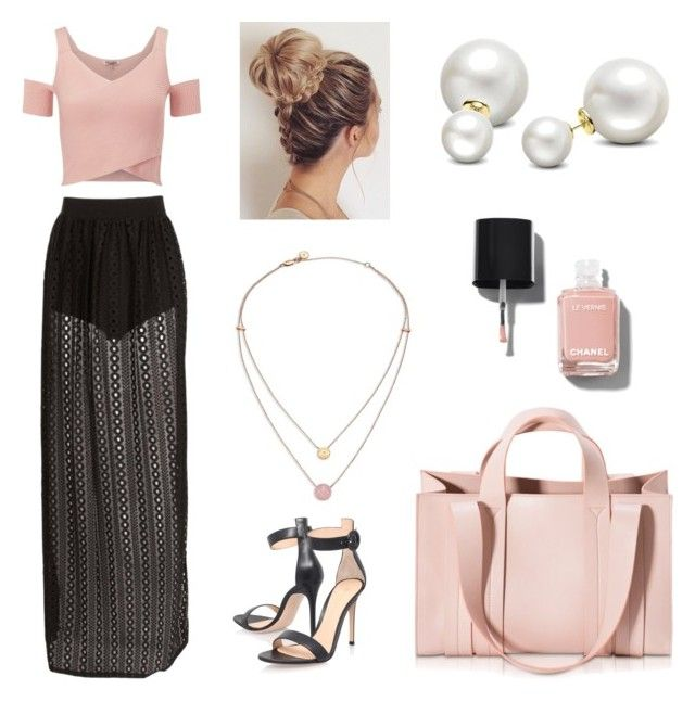 pinkiiiiii by ellalidiar on Polyvore featuring polyvore Lipsy Gianvito Rossi Corto Moltedo Michael Kors Allurez Chanel fashion style clothing