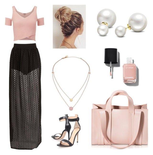 pinkiiiiii by ellalidiar on Polyvore featuring polyvore Lipsy Gianvito Rossi Corto Moltedo Michael Kors Allurez Chanel fashion style clothing
