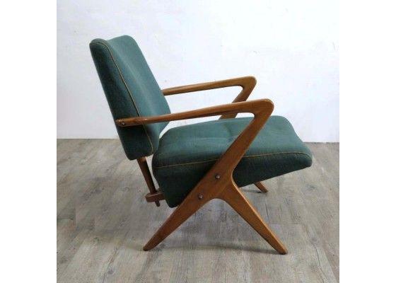 Skandinavischer Geschwungener Sessel, 1950er   Sitzmöbel   Möbel   Produkte    PAMONO