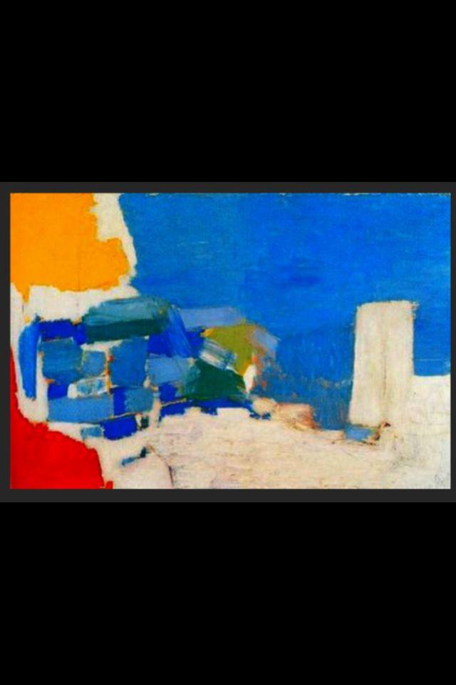 "Nicolas De Staël - ""Méditerranée"", 1954 - Huile sur Toile - 96 x 145 cm (*)"