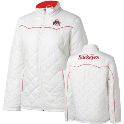 Ohio State Buckeyes Women's White Spectator Quilted Jacket #buckeyes #ohiostate #osu