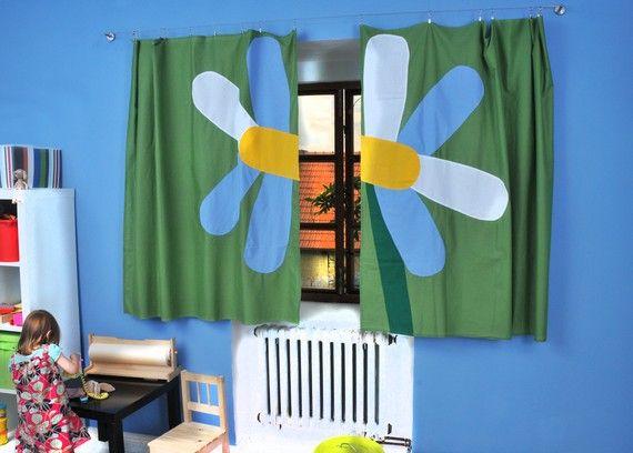 Original CURTAIN for Kids  Flower Marguerite / window by dgmart