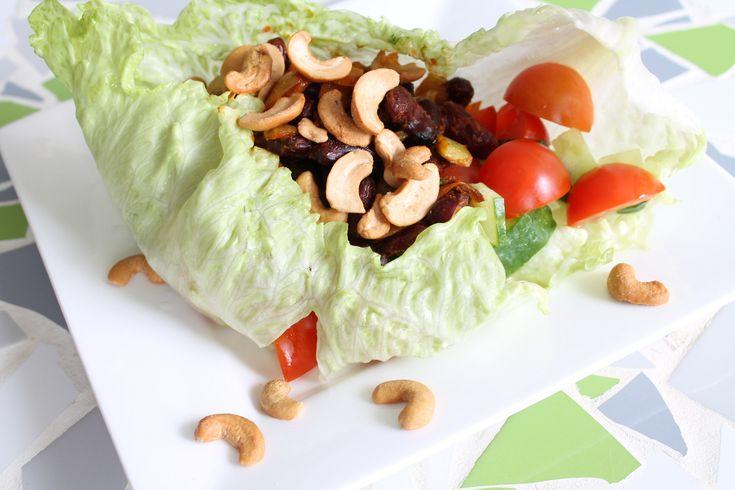17 beste idee n over vegetarische sla wraps op pinterest vegetarische sla wraps vegetarische - Idee gezellige maaltijd ...