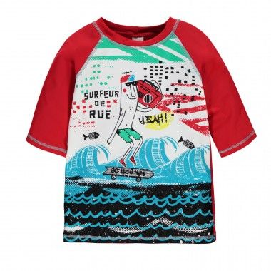 """Rashguard"" Elbow Sleeve T-Shirt/ T-shirt à manches aux coudes de type « rashguard » Souris Mini"
