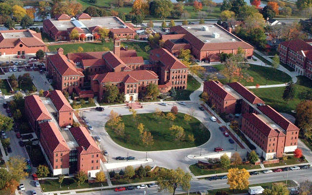 The beautiful campus of Wisconsin Lutheran College in Milwaukee. This is the home of the Wisconsin Lutheran Choir.