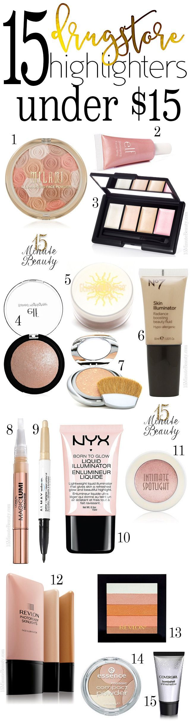 The best highlighters from the drugstore #BeautyResolutions I am hooked on highlighting & want to try lots of different ones to find my fave! Currently loving the NYX one in this pic