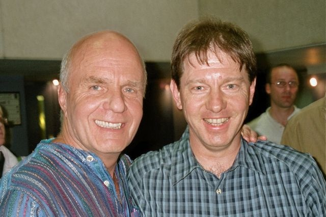 Together with Wayne Dyer in London. June 2006.