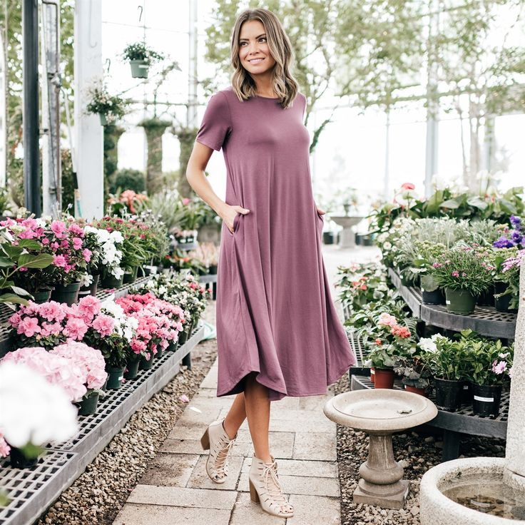 Your staple piece this season, our Draped Pocket Midi Dress is as versatile and flattering as it gets! It's so comfy & easy to dress up or down, you'll want it in every color!