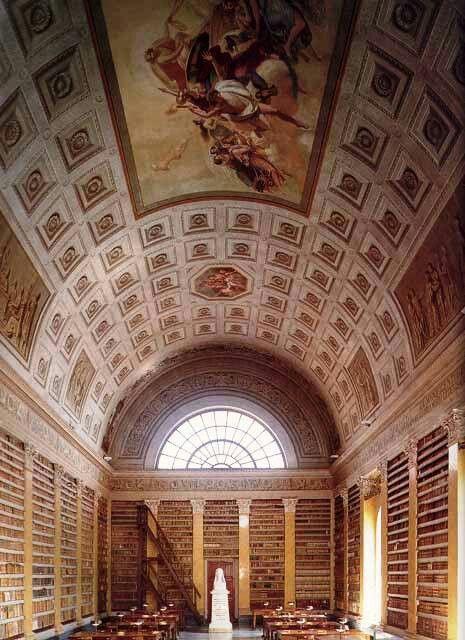 BIBLIOTECHE IN ITALIA -All'interno del Palazzo della Pilotta venne fondata nel 1761 dai duchi Filippo e Ferdinando di Borbone. Dal 1889 ha anche una sezione musicale.