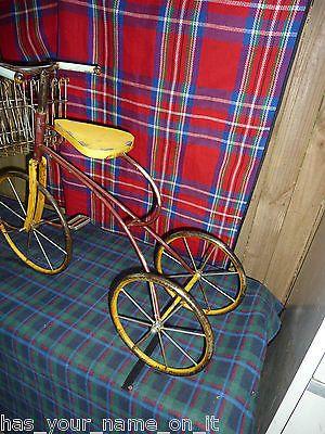 уникальный сад орнамент винтажный дизайн трехколесный велосипед TRIKE с спереди нести корзину