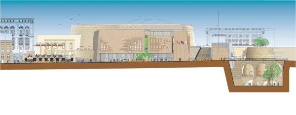 06_Renzo Piano_Malta, prospetto Nuovo Parlamento