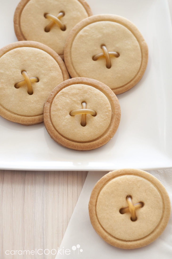 Button Cookies   caramel cookie