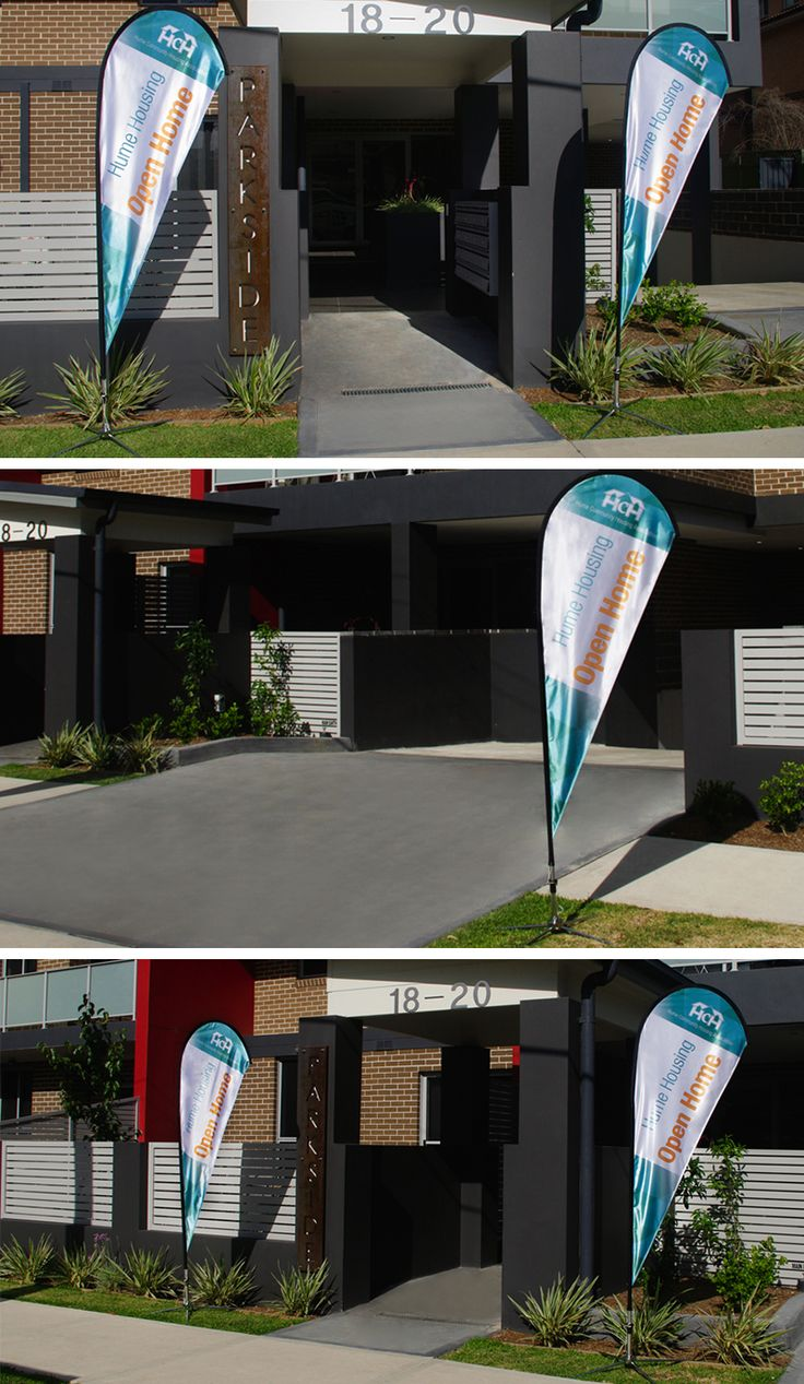 Teardrop banner design and printing for Hume Community Housing Association See more - http://ow.ly/JdPoF #EmoceanStudios #GraphicDesign #Printing #BannerDesign #SignageDesign #OpenHome #DesignStudio #ParramattaDesignStudio #Signage #Banner #Teardropbanner #OpenHouse #CorporateID