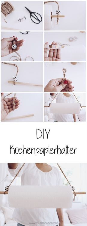 DIY kitchen roll holder do it yourself-