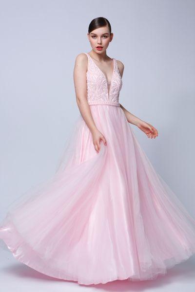 Pastelové popolnočné šaty - MATERIÁL popolnočných šiat