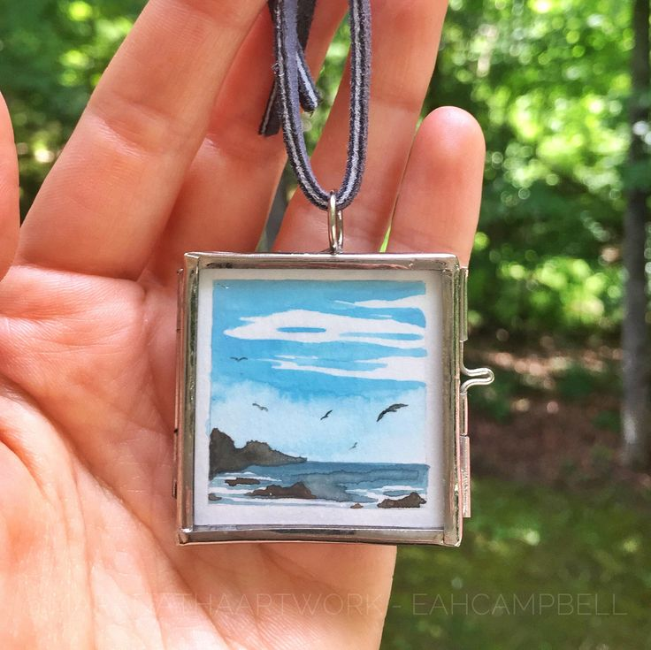 Mini original art $14 A personal favorite from my Etsy shop https://www.etsy.com/listing/538083223/original-miniature-landscape-painting-in