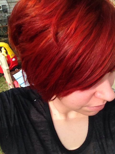 Red Hair Clairol Flare Ultraviolet And Burgundy Mixed