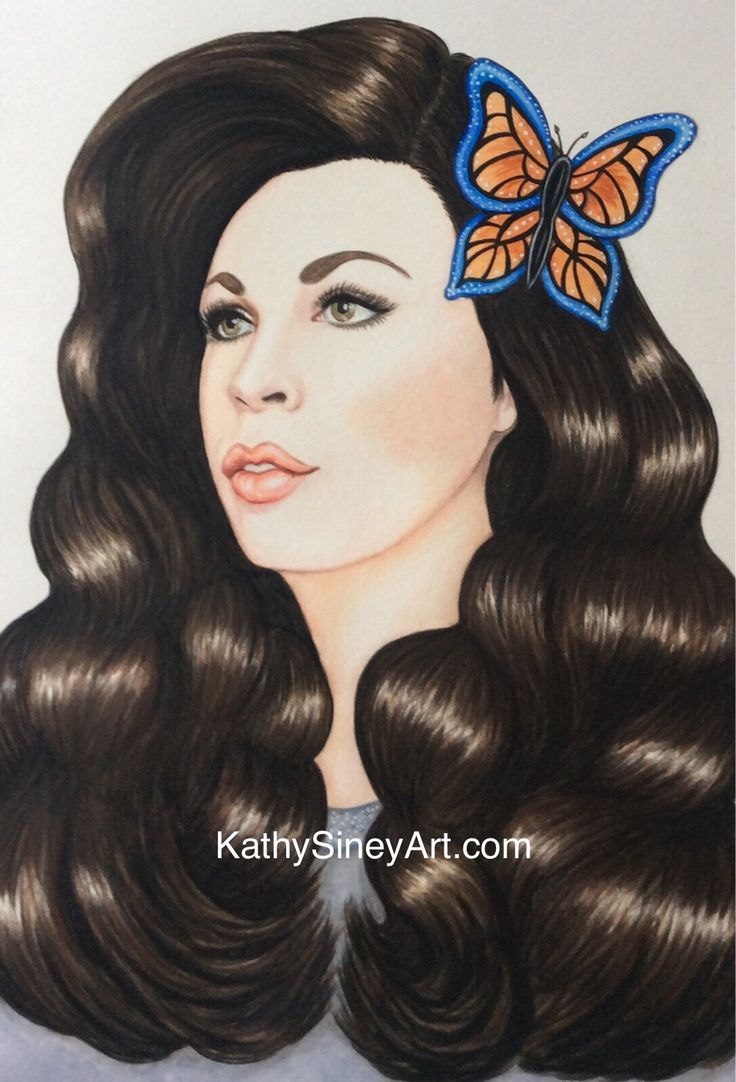 Commissioned portrait for Glamorous Butterfly company