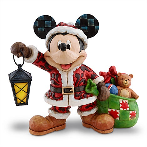 Santa Mickey Mouse Figure by Jim Shore @Disney Store Scarborough Town Centre. #Christmas #Disney