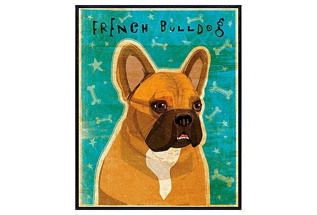 Fawn & White French Bulldog Art Block on OneKingsLane.com