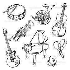 Výsledok vyhľadávania obrázkov pre dopyt hudobne nastroje kreslene