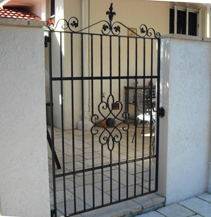 Solid steel, wrought iron courtyard gate, designed by Farmweld $1195