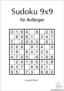 Sudoku für Einsteiger 9x9