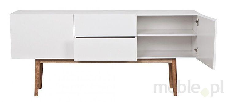 Komoda BERGEN 150, biała, MDF, drewno, 50030-2